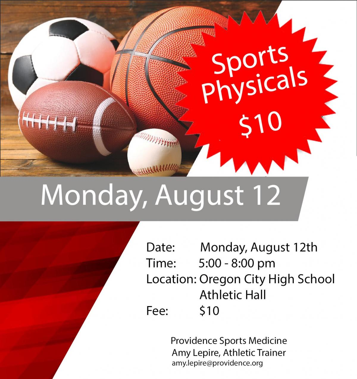 sports physical form oregon  Sports Physical Night | Oregon City School District